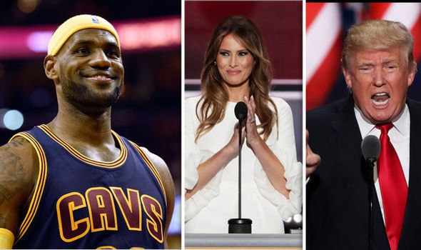 b74198b10e68 First Lady Melania Trump has nothing but nice things to say about LeBron  James ...